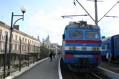 Fotografia do comboio Lviv até Kiev na Ucrânia