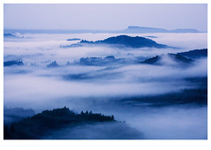 Bohemian Switzerland 2 (Jiri Sebek) Tags: morning mountains czech hills fot surise bohemianswitzerland theunforgettablepictures vanagram