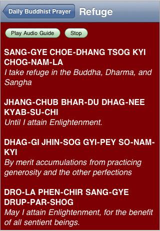 Daily Buddhist Prayers - Refuge