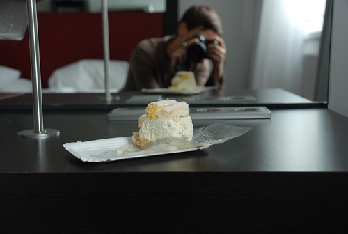 me taking a picture of the magic pastry