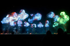 colorful 'splosion (sgoralnick) Tags: festival fire desert nevada explosion evolution playa burningman blackrockcity event brc rocket takeoff rocketship blackrockdesert burningman2009 evolutiontheme burningman09 bm09 raygungothicrocket burningman:art=438