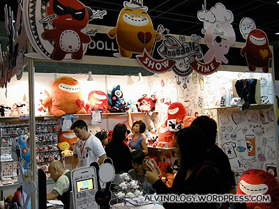 Character designs booth