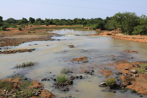 River setting in western Burkina Faso.