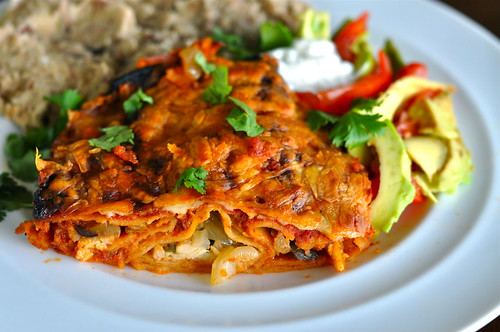 Fire Roasted Chicken Enchiladas