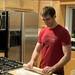 Jeff roles pizza dough