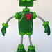 Green Gregory - Robot Sculpture - Jiggly Wiggly - Full Body