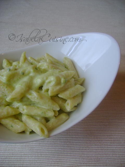 Pasta With Courgettes Pesto