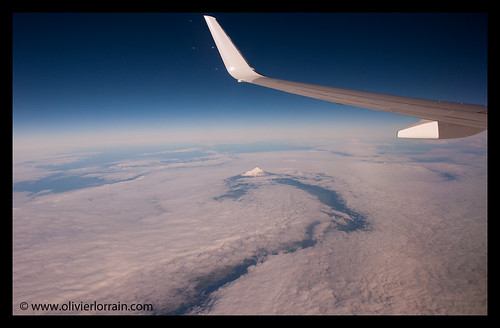Mount Taranaki with clouds, NZ