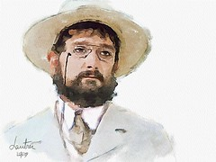 #241 Henri de Toulouse-Lautrec (piker77) Tags: portrait painterly man celebrity art face digital photoshop watercolor painting interesting media artist natural retrato aquarelle digitale manipulation simulation peinture illusion virtual watercolour transparent acuarela tablet technique wacom ritratto impressionist stylized pintura portre  imitation  aquarela aquarell emulation malerei pittura lautrec virtuale virtuel naturalmedia bildnis    piker77wc arthystorybrush