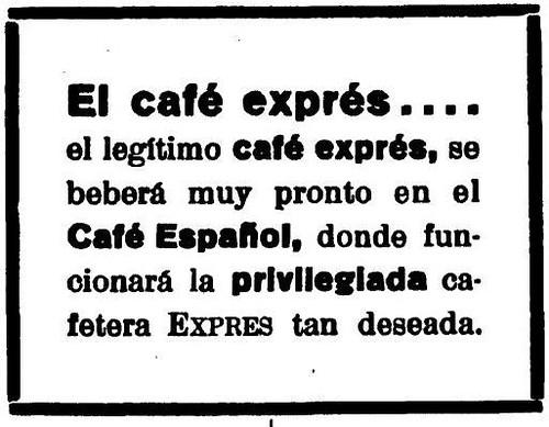 Publicidad El Castellano. 29 de Octubre de 1928