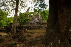 the brick tower -- Preah Pithu Group (Frankie Pierce) Tags: trip travel light vacation sky holiday tree landscape nikon cambodia angkorwat siemreap angkorthom d80 nikond80 preahpithugroup
