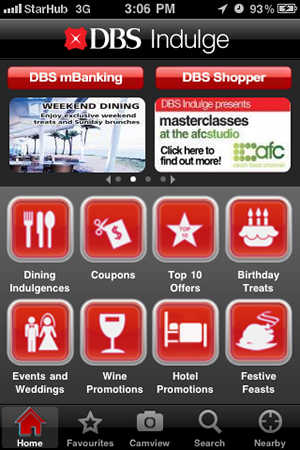 DBS Indulge iPhone App