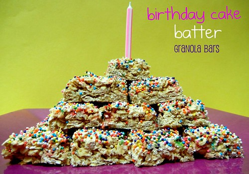 birthday cake granola bars