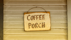 Coffee Porch (cordesj) Tags: signs texas unitedstates houston objects
