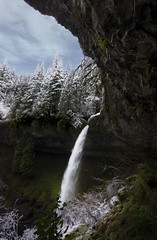 Winter Falls (Mstraite) Tags: waterfall winter nature landscape water snow river canon silver oregon explore frame cave