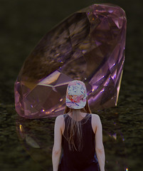 The Big Pink Diamond (swong95765) Tags: diamond pink crystal woman female ldy awe awesome dreaming