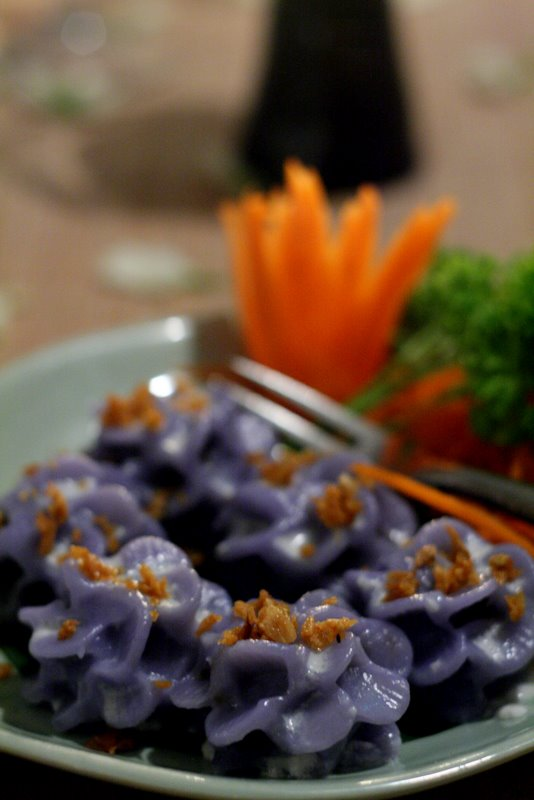 flower shaped dumplings