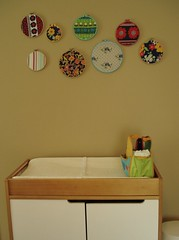 Changing table (stupid clever) Tags: nursery vintagefabric harpersroom fabricportriats nettocubchangingstation