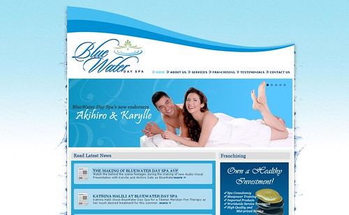 Blue Water Day Spa website