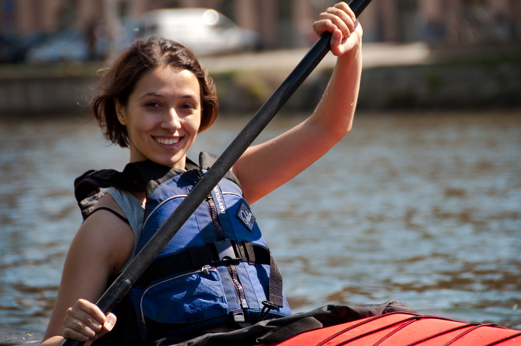 Kayaking on by