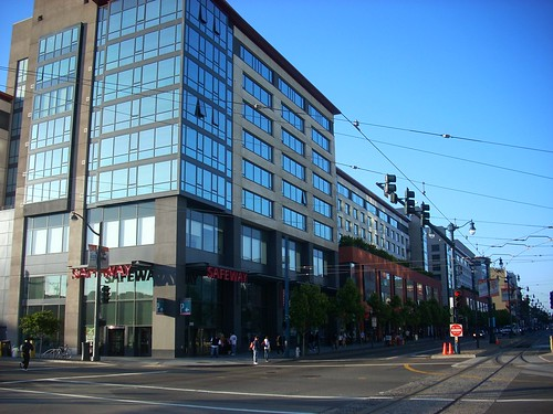 Transit oriented development at 4th & King Streets, SOMA, San Francisco