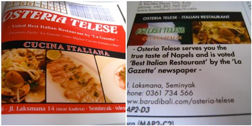 Osteria Telese's Ads