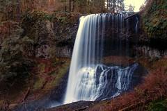Middle North Falls (lowcountryboil) Tags: blur water oregon creek waterfall silverton silverfalls plunge middlenorthfalls platinumheartaward
