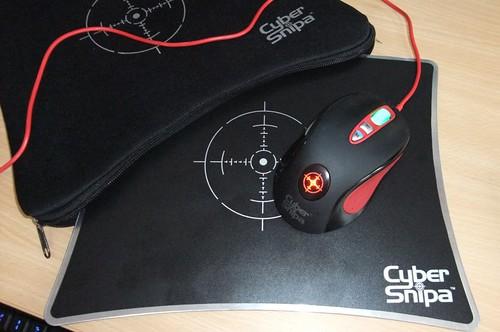Cyber Snipa Stinger pelė ir Aluminium padas