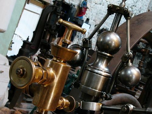 Huileur et régulateur de la machine à vapeur Merlin