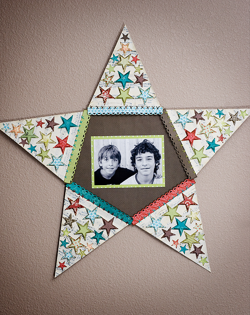 star piecing finished