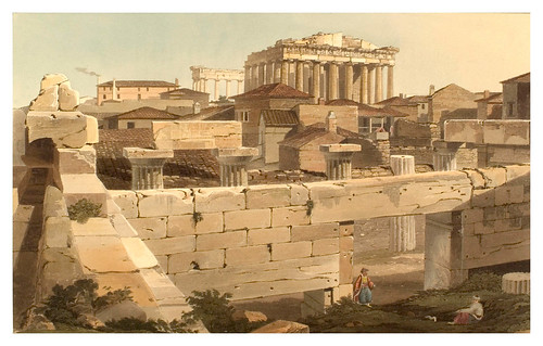021- Vista del Partenon desde Propylaea-Views in Grece 1821