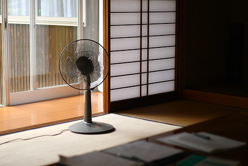 客間の扇風機