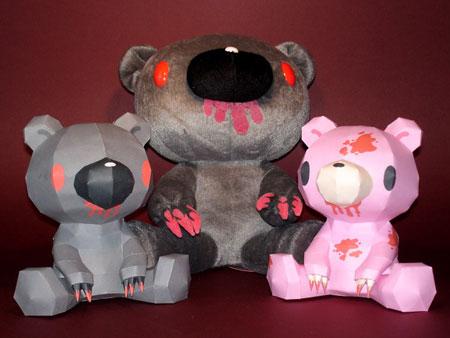 Gloomy Bear Papercraft 01