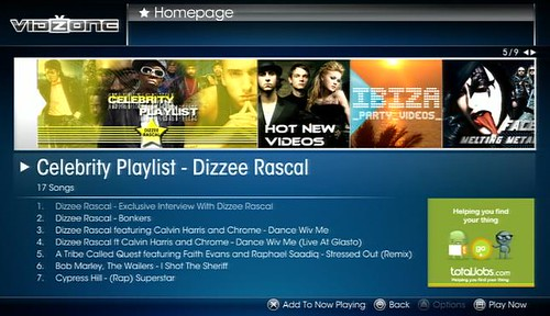 VidZone - Dizzee Rascal playlist, 02-09 July