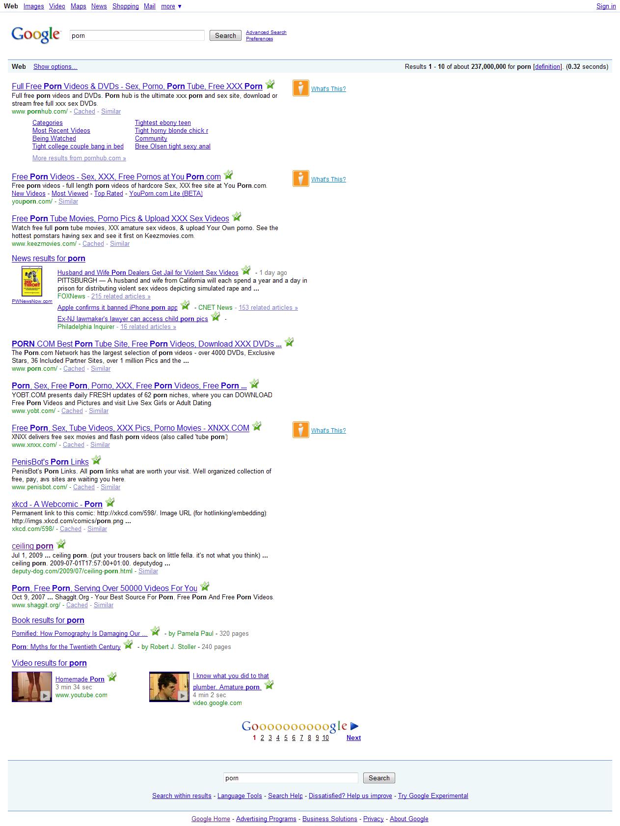 Google поиск порно