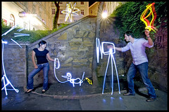 light painting photo shooting (andreas gessl) Tags: vienna wien light lightpainting night painting austria crazy long exposure drawing creative cinematic lichtmalerei lightart lightdrawing lichtmalen lightjunkie andreasgessl