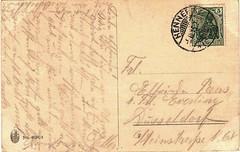 Postcard, 5 October 1915 (Rckseite/back) (anna wilder) Tags: handwriting german letter brief schrift handwritten cursive correspondence rckseite kurrent kurrentschrift