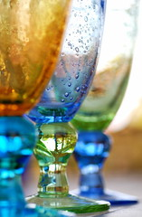 Colored glass (ImagesByClaire) Tags: blue party summer orange green colors glasses colorful colours bright drink vibrant beverage drinks colourful beverages lively challengeyouwinner thechallengefactory yourockunanimous herowinner