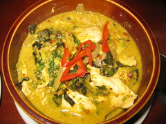 Chicken amok  - the national dish. which is really just a curry with egg in it