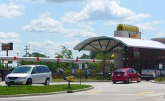 America's Drive-in ~ Sonic (creed_400) Tags: park food west sign st restaurant clyde michigan burger fast sonic drivein fries shake wyoming 54