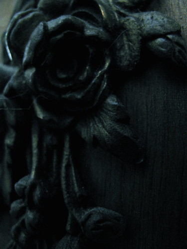 roses on coat rack