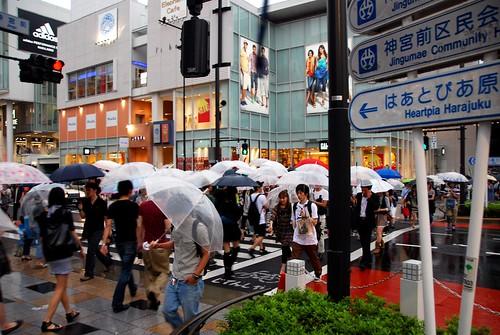 rainy day harajuku, tokyo