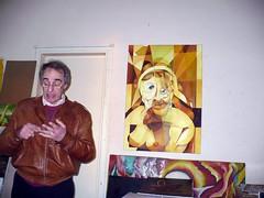 """Julio Alessandroni, artista plástico argentina explicando el significado de su obra """"Dos Edades y un Rostro"""" por Bahianoticias.com"""