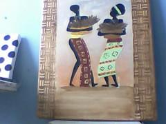 Imagem 194 (A cor do acaso) Tags: ceramica cores artesanato jardim decora cor telas acrilico telha africanas senegalesa senegalesas