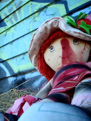 Strawberry Shortcake. (leelikesphotography) Tags: dessert toy toys graffiti strawberry doll dolls sony shortcake awood photgoraphy