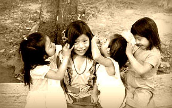 Las cuatro jinetas del Apocalipsis. Foto: Subcomandante Insurgente Marcos. Selva Lacandona, Chiapas, 1996.