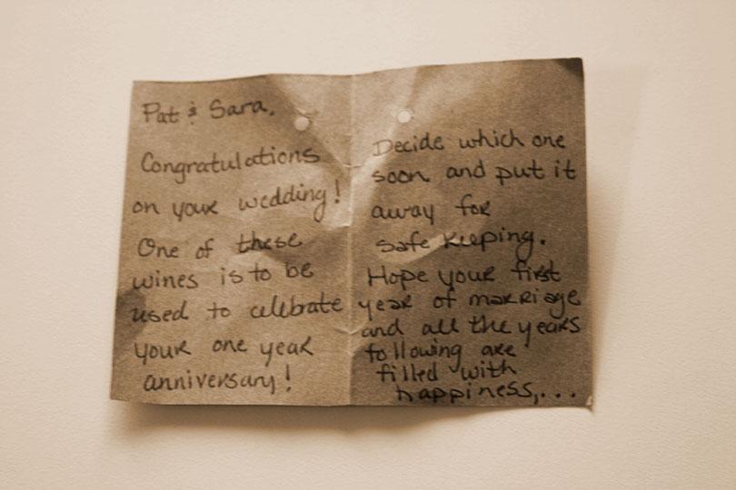 Anniversary Wine Note