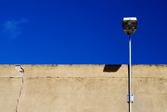 (Janet Leadbeater) Tags: city blue light sky urban abstract wall globe terrace south north minimal pole adelaide cbd cracks flickrmeet tce