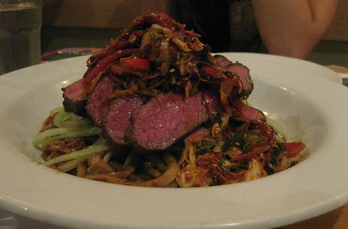 House Restaurant in San Francisco - wasabi house noodles with angus flatiron steak