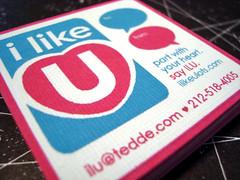 i like u - custom cards